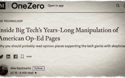 MÉDIAS • La big tech écrit, les journalistes signent