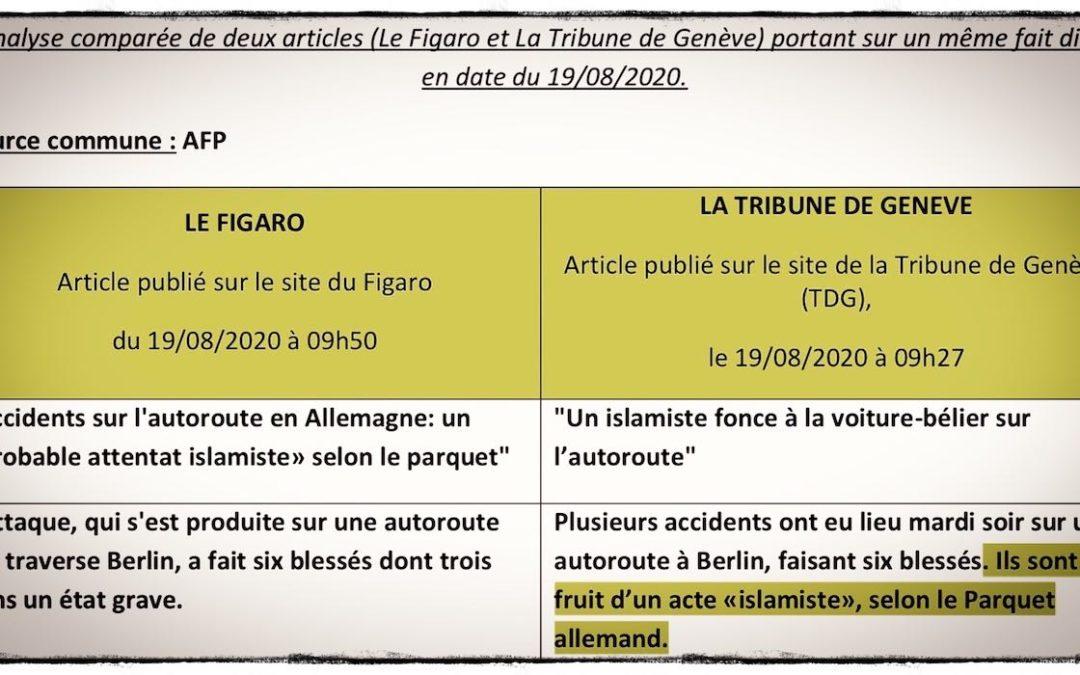 ISLAMISME • Comment «Le Figaro» court-circuite le Parquet allemand