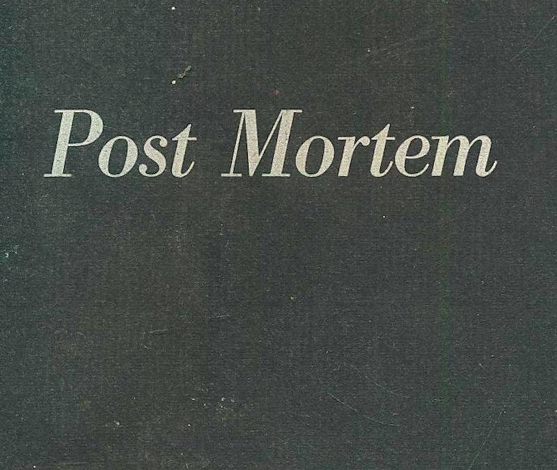 LISEZ-MOI ÇA! • «Post Mortem» d'Albert Caraco