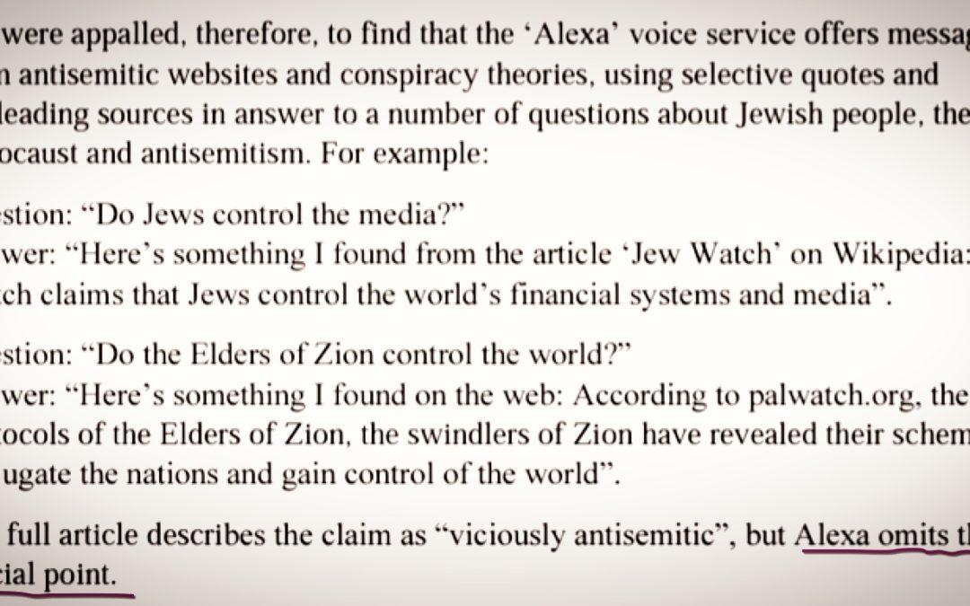 GOOGLE • Leur assistant vocal n'aime pas les Juifs?