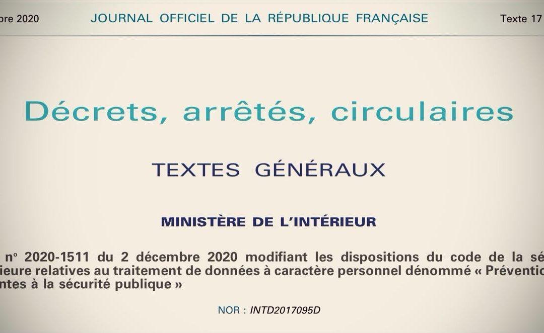 FRANCE • La saison du fichage citoyen est ouverte!