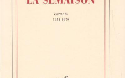 LISEZ-MOI CA! • «La Semaison» de Philippe Jaccottet